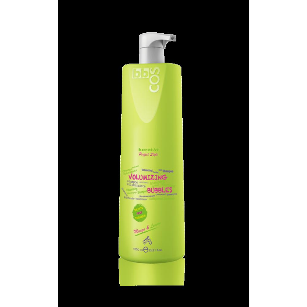 bbcos Keratin Perfect Style Шампунь безсульфатний для об'єму волосся Volumizing Bubbles 1000 мл
