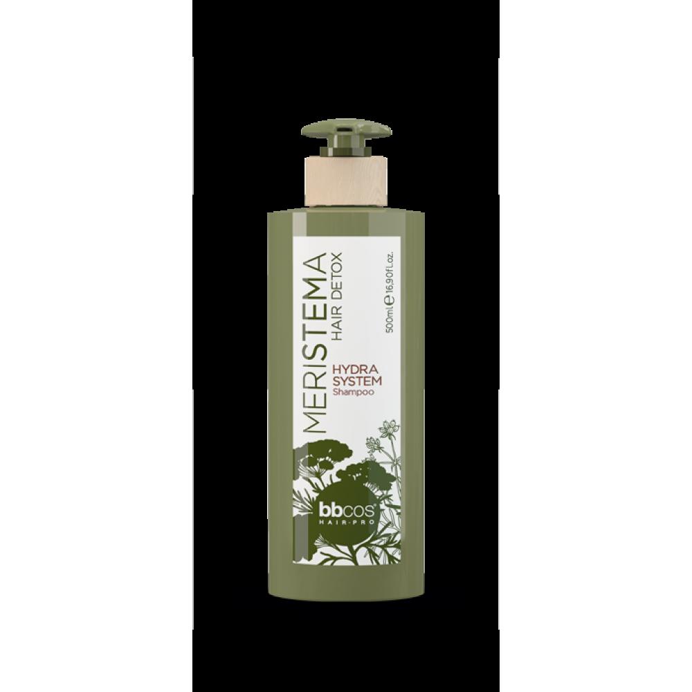 bbcos Meristema Hydra System Shampoo зволожуючий шампунь для волосся на основі стовбурових клітин 500 мл