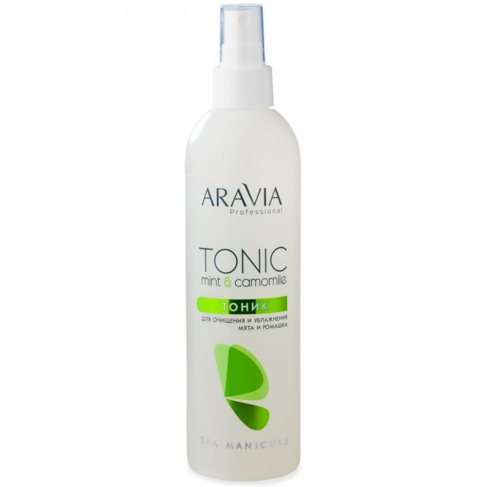 Aravia Professional Тонік для очищення та зволоження шкіри з м'ятою і ромашкою 300 мл.