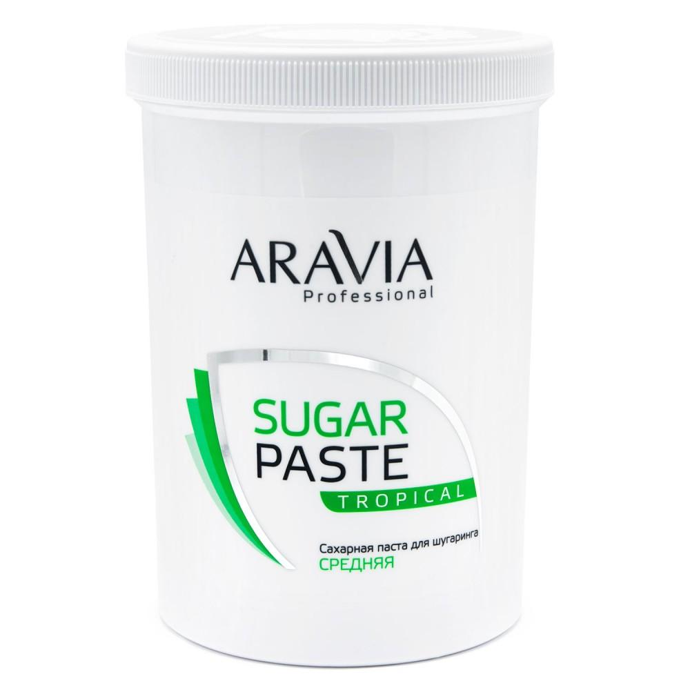 """Aravia Professional Цукрова паста для шугарінгу """"Тропічна"""" середня 1500 гр"""