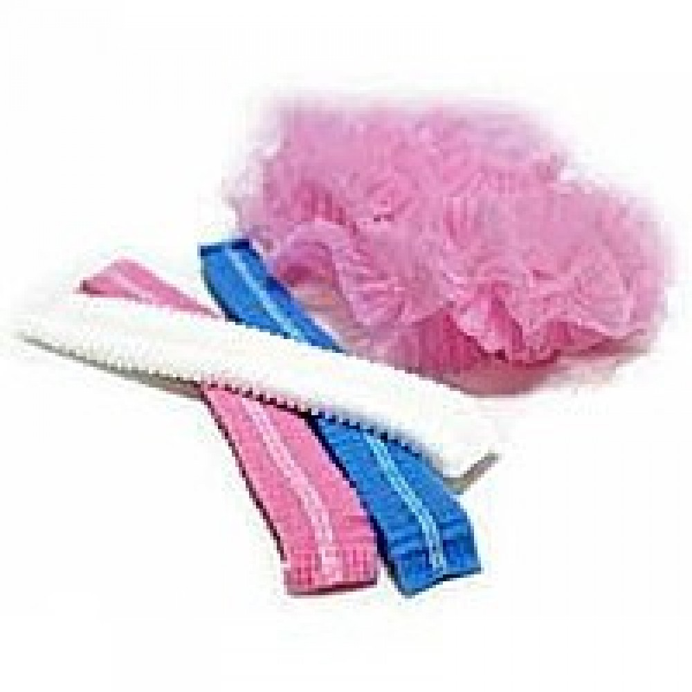 Шапочка гармошка на резинці (100шт.в уп.) біла, голуба, рожева