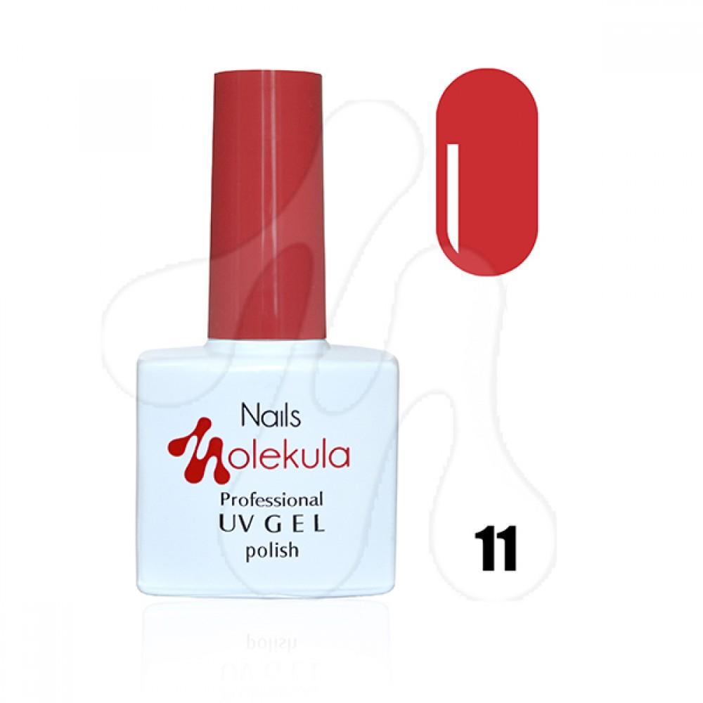 Molekula Гель-лак 011 Яскраво-червоний 11 мл.