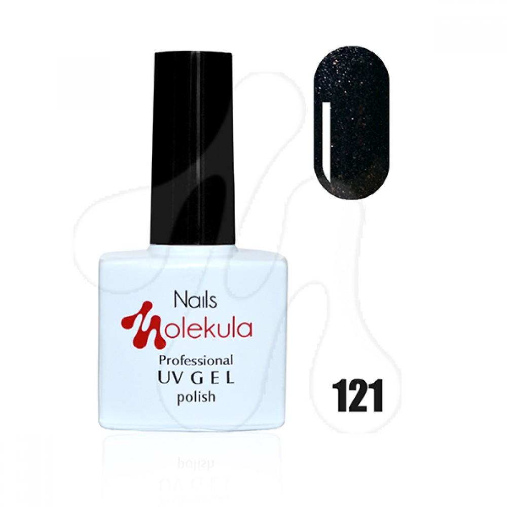 Molekula Гель-лак 121 Чорні перли 11 мл