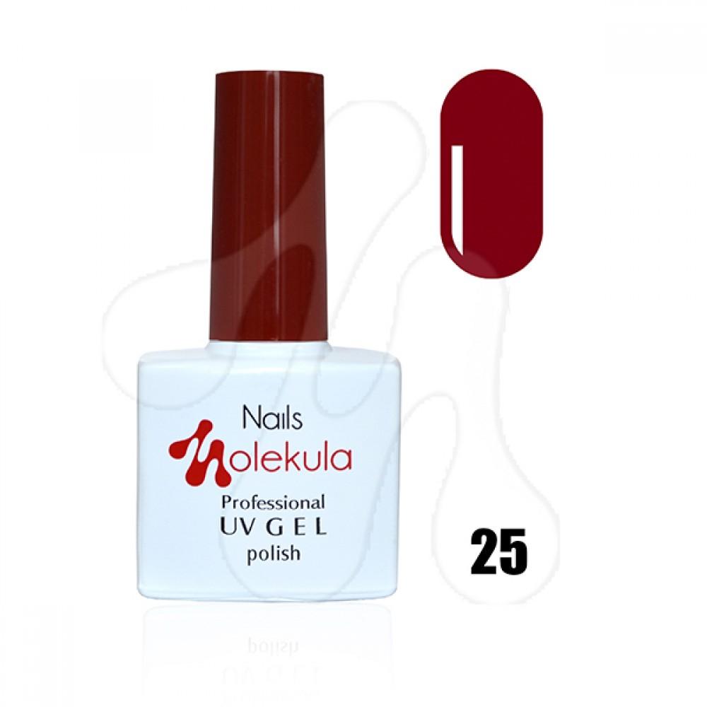 Molekula Гель-лак 025 Яскраво-червоний 11 мл