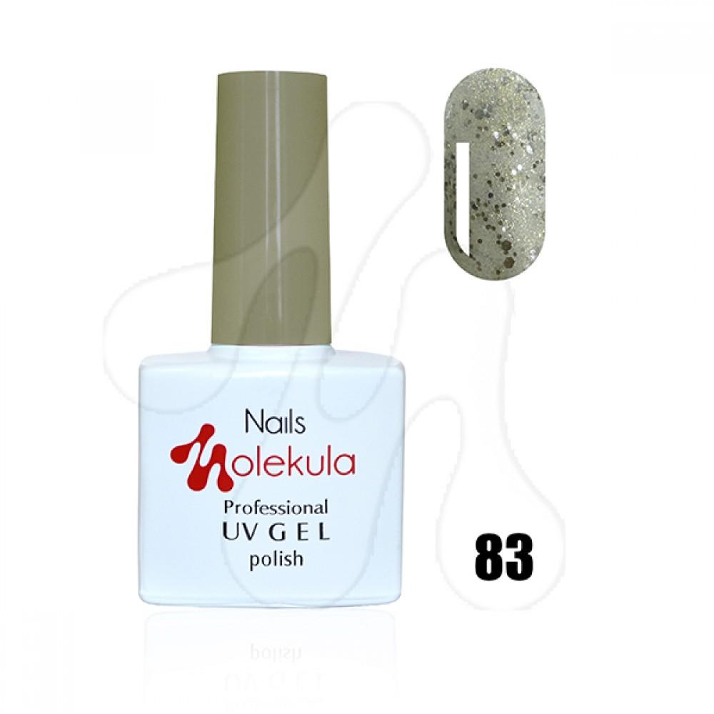 Molekula Гель-лак 083 Срібний гліттер 11 мл