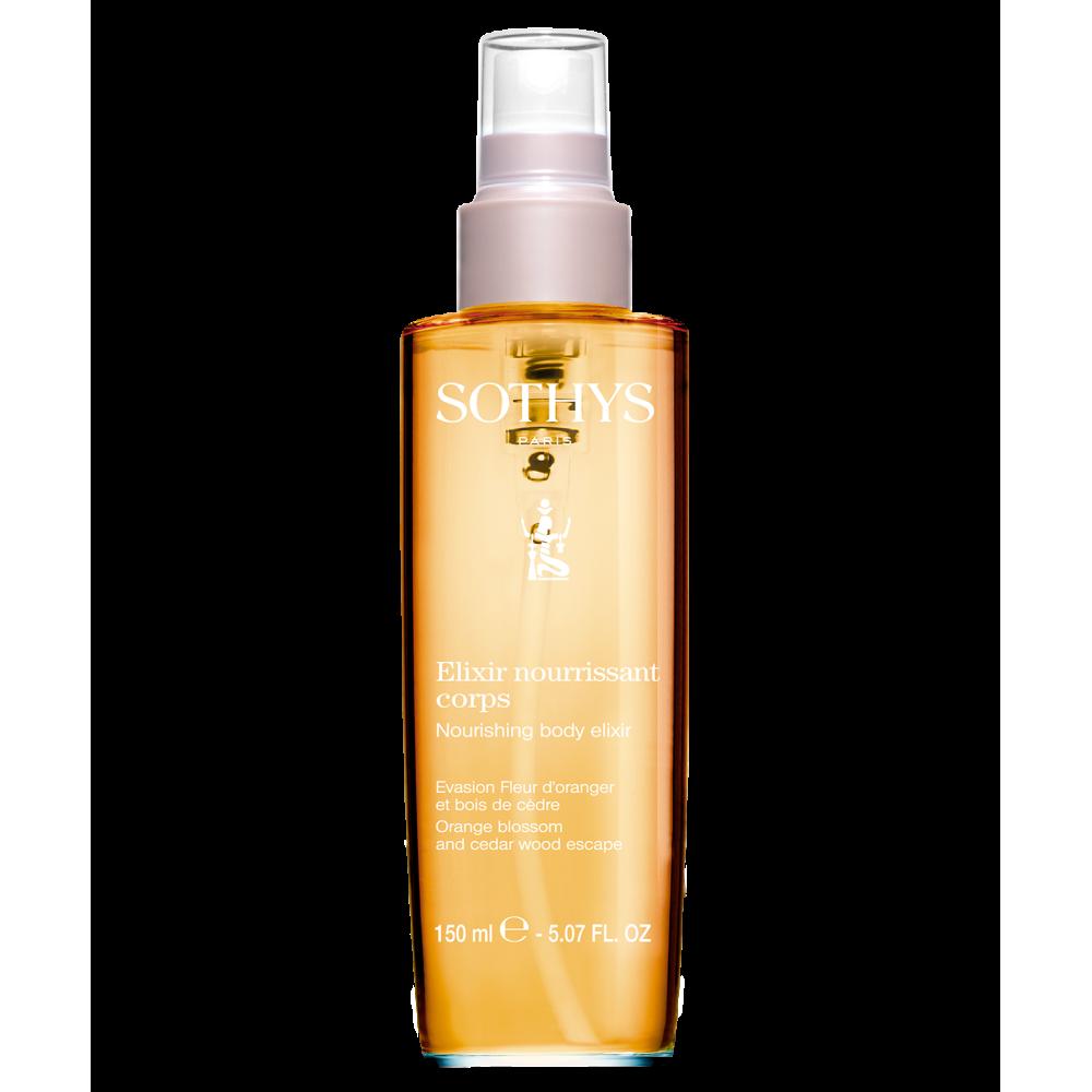 "Sothys Nourishing Body Elixir Orange Blossom & Cedar Wood Еліксир ""Цвіт цитрусу і кедр"" 100 мл."