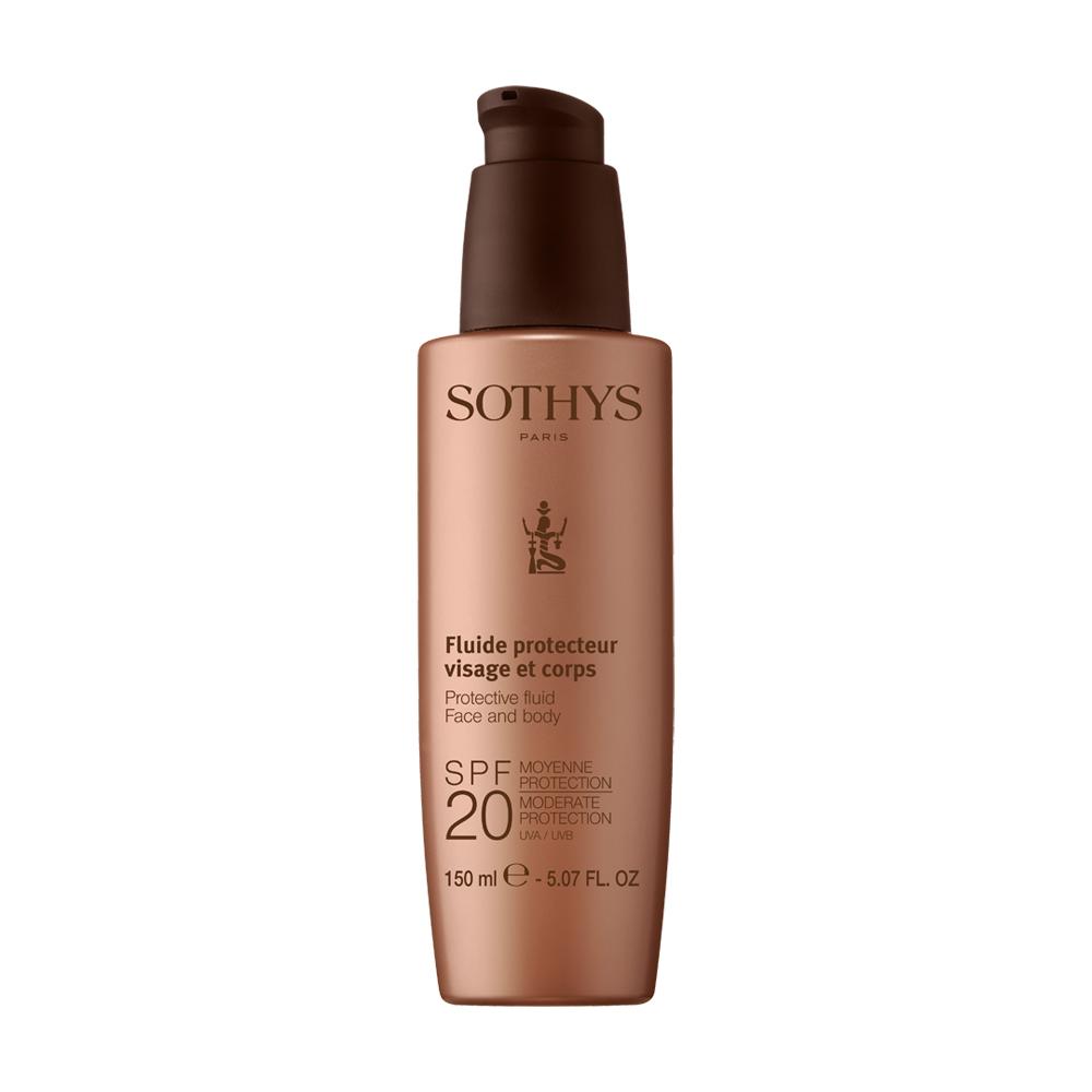 Sothys Protective Fluid Face and Body SPF20 Сонцезахисний лосьйон 150 мл.