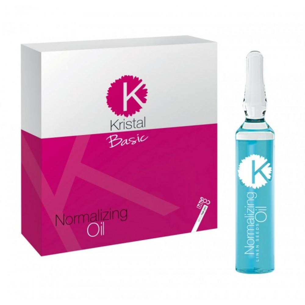 Kristal Basic Олія в ампулах заспокоююча для пошкоженого,сухого та фарбованого волосся 10 мл.