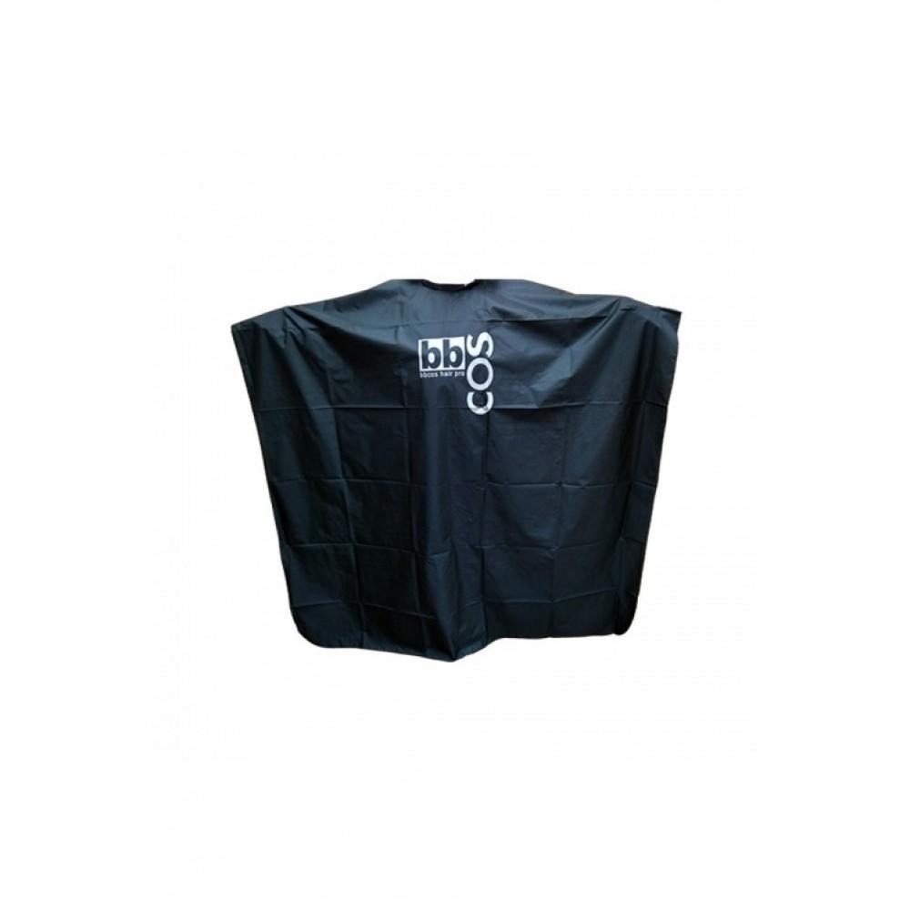 Накидка перукарська з логотипом bbCos чорна/сіра