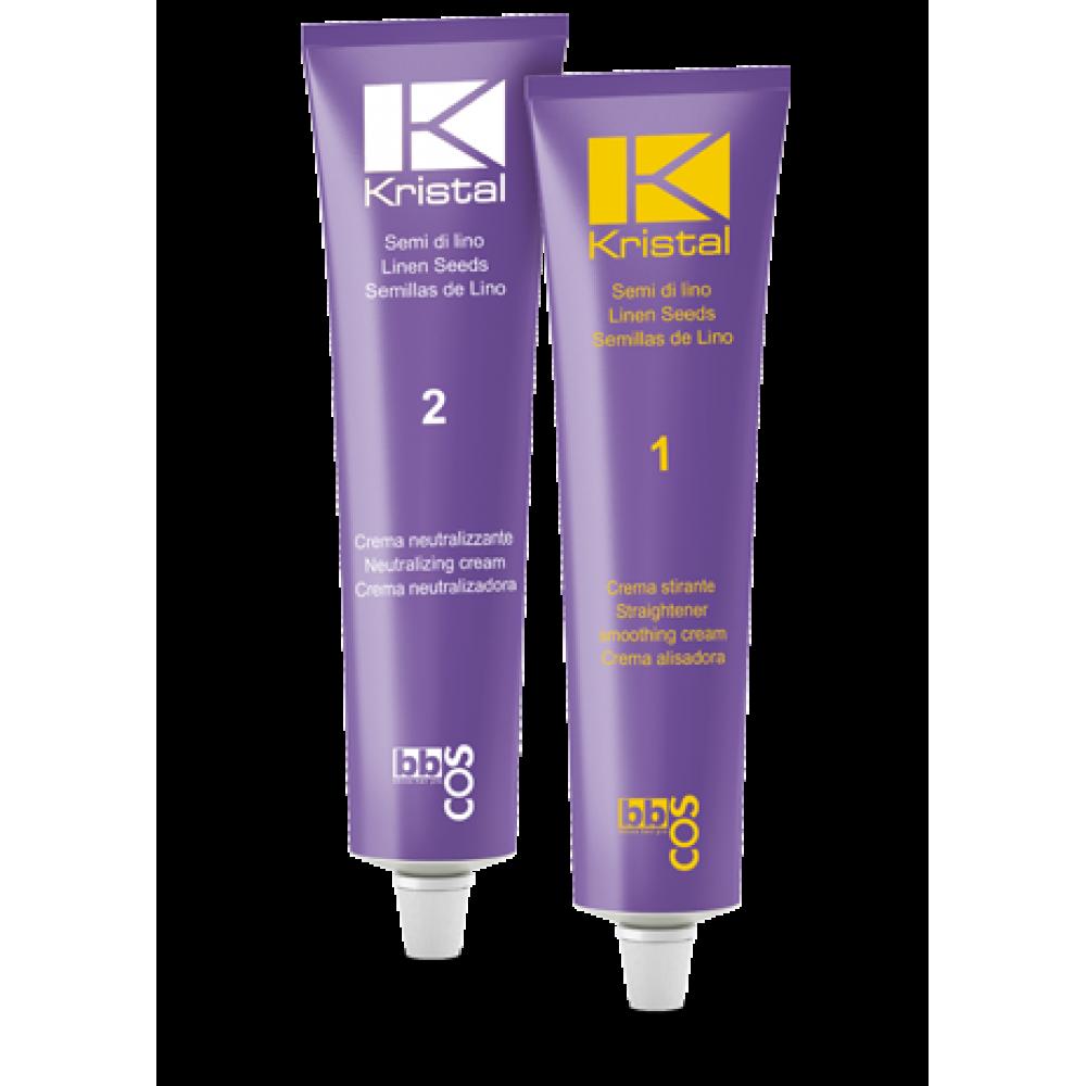 Kristal Smoothing Набір для випрямлення волосся (крем+нейтралайзер) 200 гр