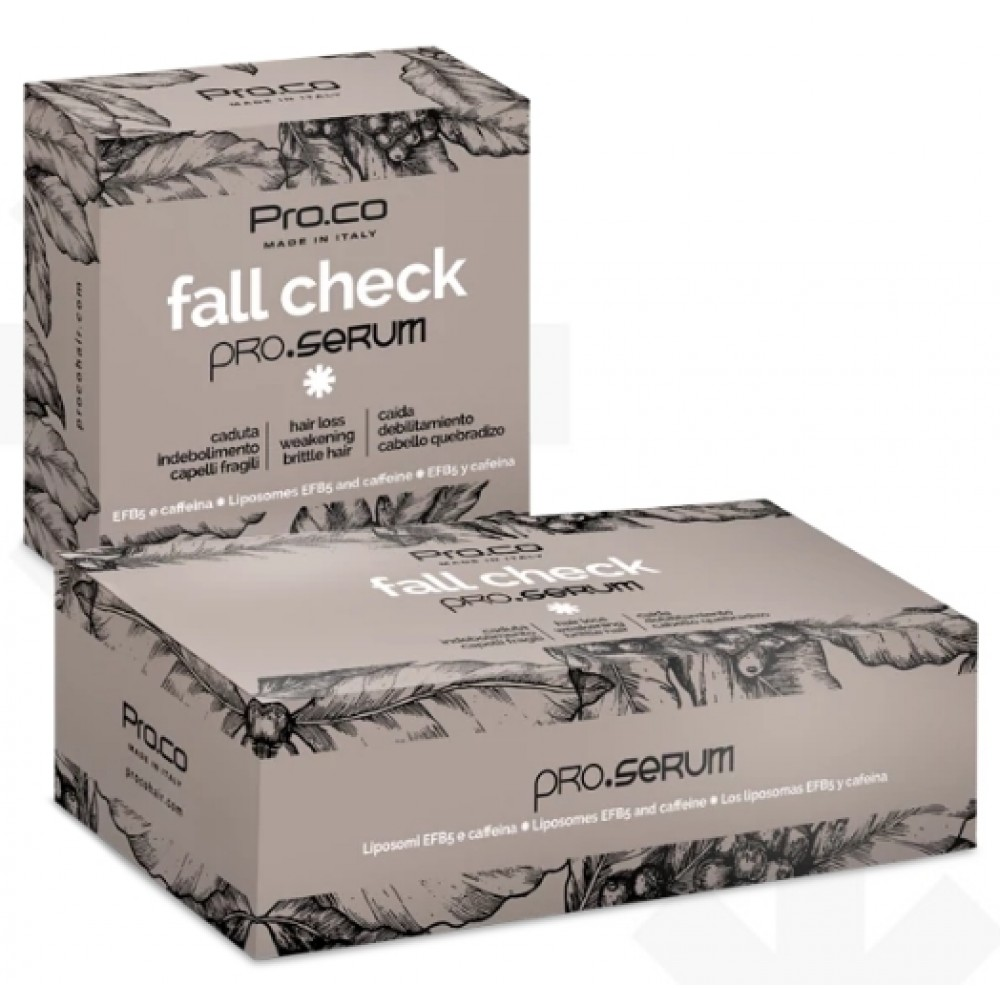 PRO.CO Fall Check pro.serum Сироватка зміцнююча проти випадіння волосся в ампулах 8 мл